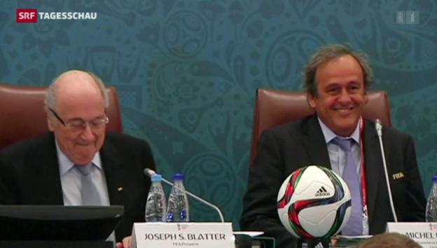 Video «Platini ist Favorit auf die Blatter-Nachfolge» abspielen