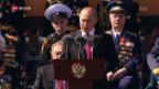 Video «FOKUS: Putin demonstriert militärische Stärke» abspielen