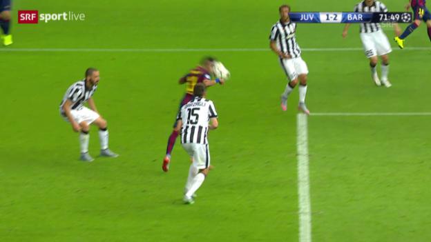 Video «Fussball: CL-Final, Hands-Tor Neymar» abspielen