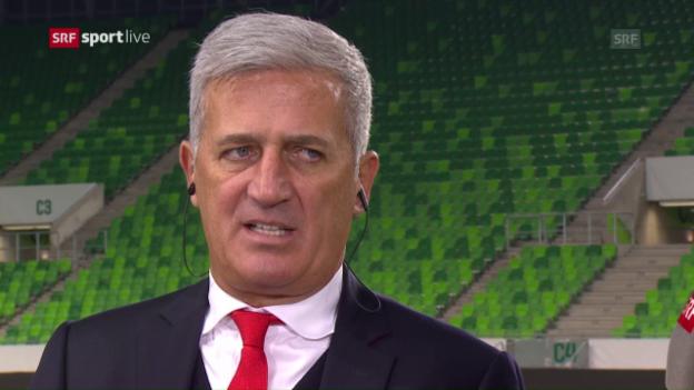 Video «Petkovic: «Nach unseren Toren aggressiver nach vorne arbeiten.»» abspielen