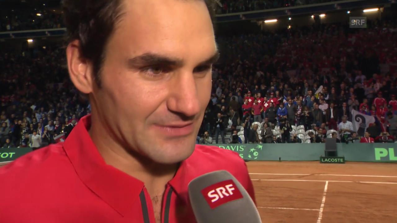 Tennis: Davis Cup, Interview mit Roger Federer