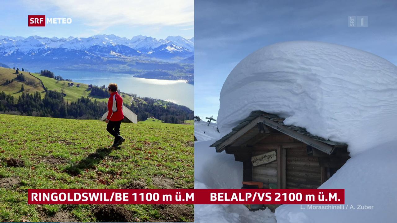 Schnee vs Wärme