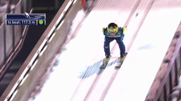 Video «Skispringen: Vierschanzentournee, 4. Springen in Bischofsbofen, Noraki Kasai» abspielen