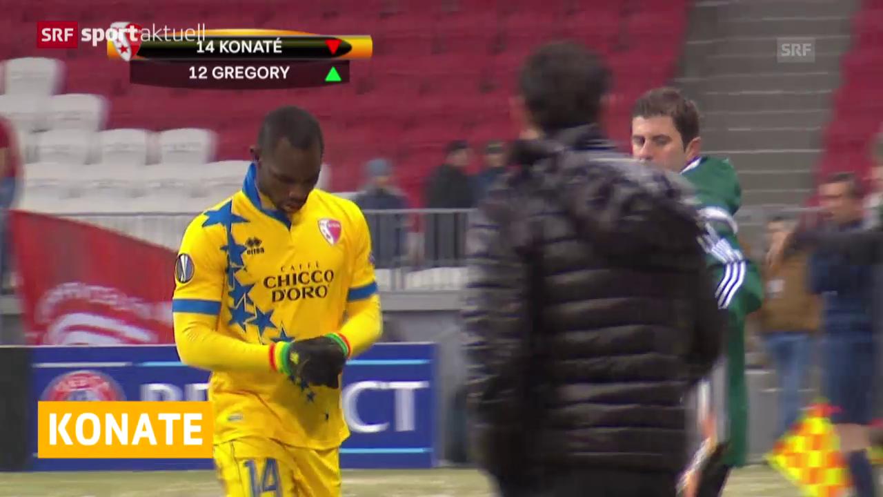 Fussball: Vaclik und Konaté fallen verletzt aus