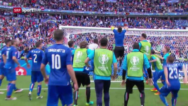 Video «Italien schaltet Titelverteidiger Spanien aus» abspielen