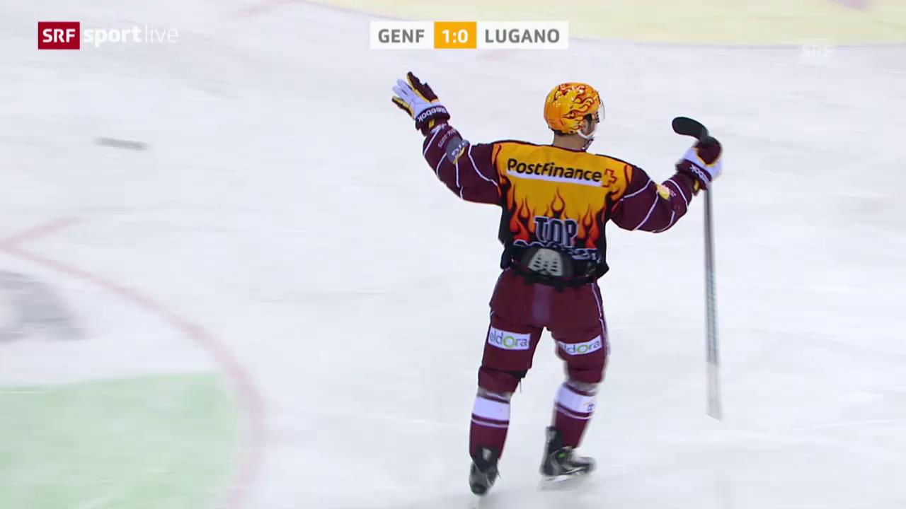 Eishockey: Playoff-Viertelfinals, Spiel 6, Genf - Lugano