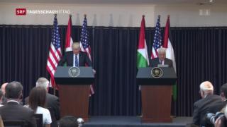 Video «Trump trifft Palästinenserpräsident» abspielen