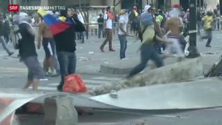 Video «Proteste in Venezuela fordern weitere Menschenleben» abspielen