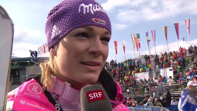 WM-Abfahrt: Interview Maria Höfl-Riesch