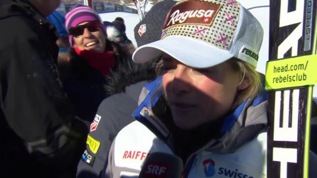 Video «Lara Gut über das zweite Cortina-Training» abspielen