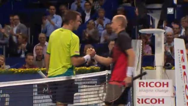Video «Swiss Indoors: Wawrinka - Dawidenko («sportlive»)» abspielen