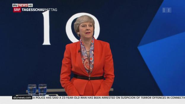 Video «Premierministerin Theresa May» abspielen