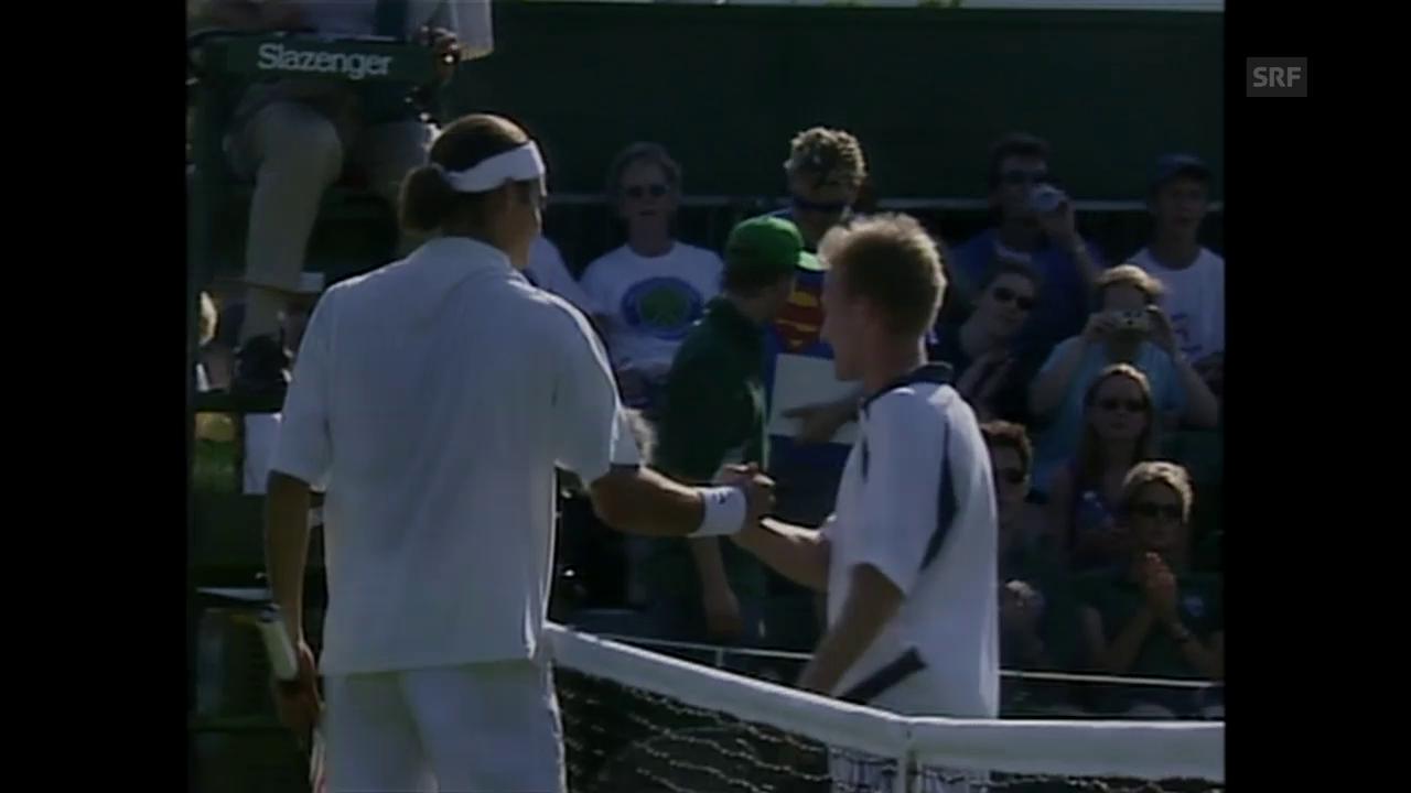 Der allererste Sieg von Roger Federer in Wimbledon