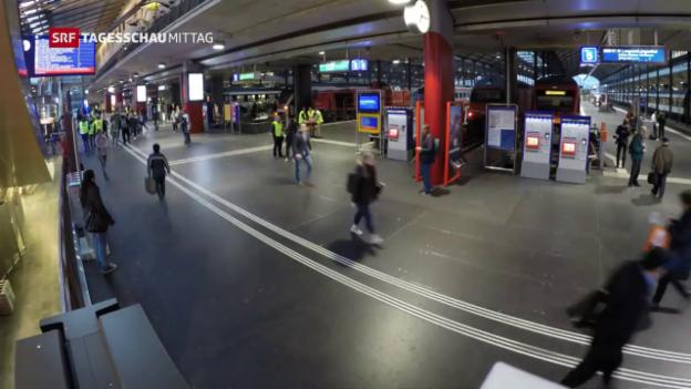 Video «Am Bahnhof Luzern ist wieder Leben eingekehrt» abspielen