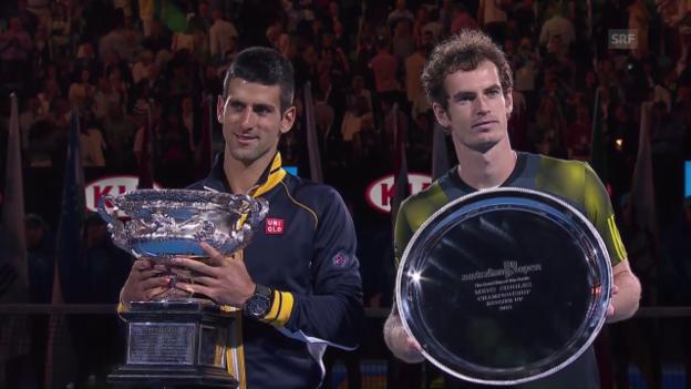 Video «Bisherige Endspiele zwischen Djokovic und Murray» abspielen
