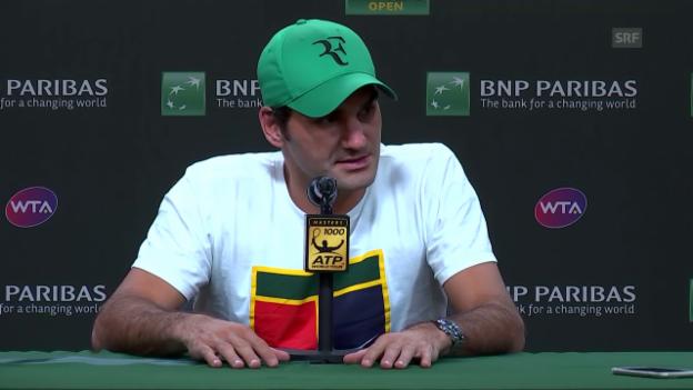 Video «Federer: «Ich bin sehr aufgeregt»» abspielen