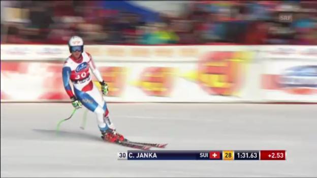 Video «Männer-Abfahrt in Kvitfjell: Fahrt von Carlo Janka («sportlive»)» abspielen