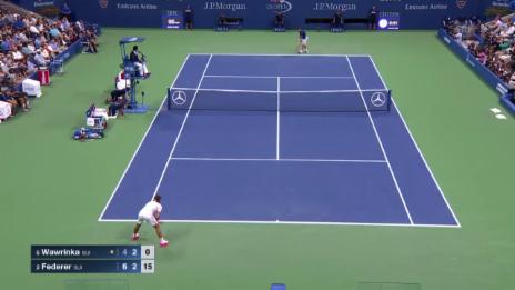 Video «Tennis: US Open, Wawrinka - Federer, Highlights Satz 2» abspielen