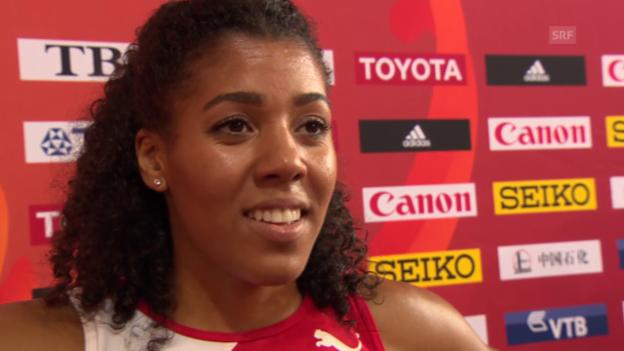Video «Interview Kambundji nach 200-m-Vorlauf» abspielen