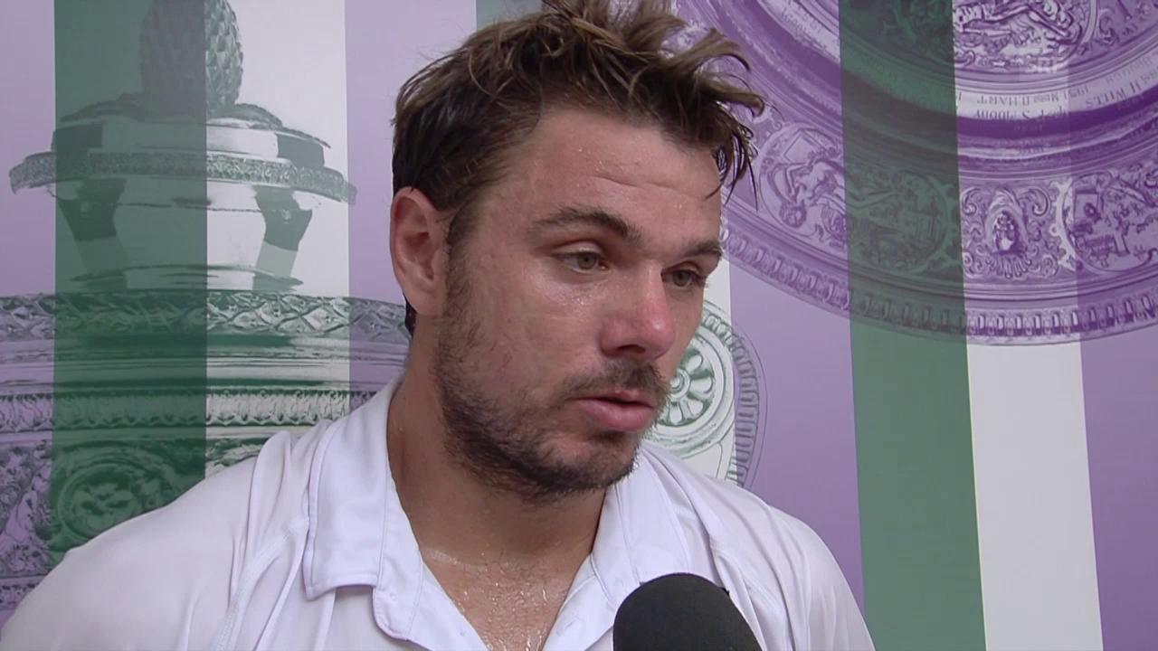 Tennis: Wimbledon, Wawrinka - Estrella Burgos, Interview Wawrinka