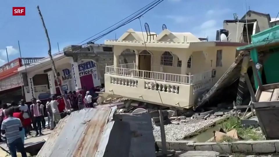 Starkes Erdbeben erschüttert Haiti