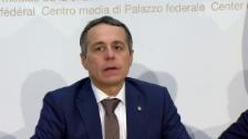 Link öffnet eine Lightbox. Video Pressekonferenz mit dem neuen Bundesrat Ignazio Cassis abspielen