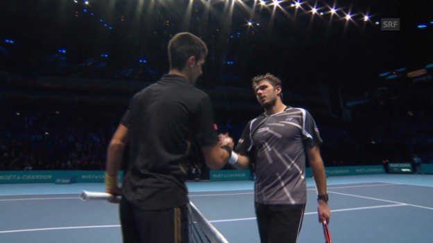 Video «Tennis: ATP Finals, Live-Highlights Wawrinka - Djokovic» abspielen