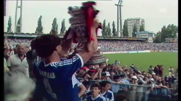 Video «1985: Aarau siegt im Schweizer Cup» abspielen