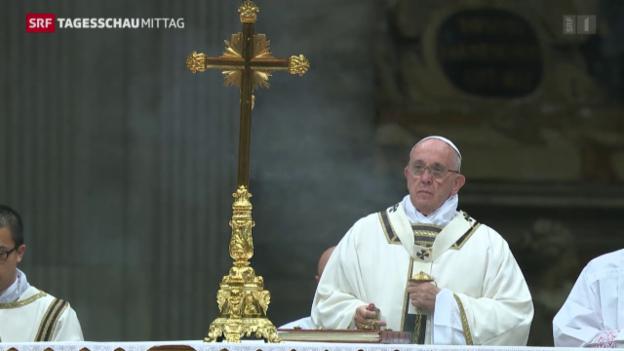 Video «Papst prangert Konsumgier an» abspielen