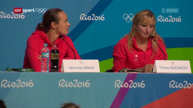 Video «Hingis und Baczinszky bestreiten ihre 2. Olympischen Spiele» abspielen