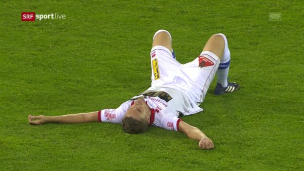 Video «Andersen trifft, Sion am Boden zerstört» abspielen