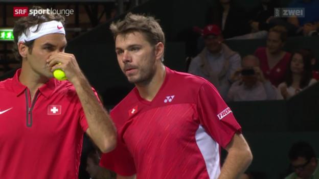 Video «Davis Cup – Psychogramm des Duos Federer-Wawrinka» abspielen