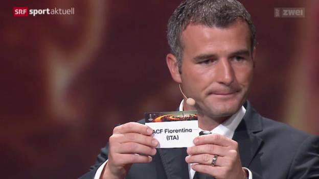 Video «Fussball: Auslosung der Europa-League-Gruppen» abspielen