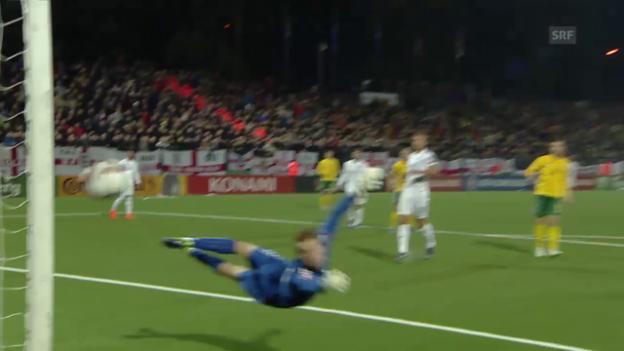 Video «Fussball: EURO-Quali, Litauen - England» abspielen