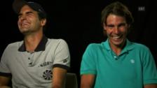 Video «Tennis: Lachattacken Federer und Nadal» abspielen