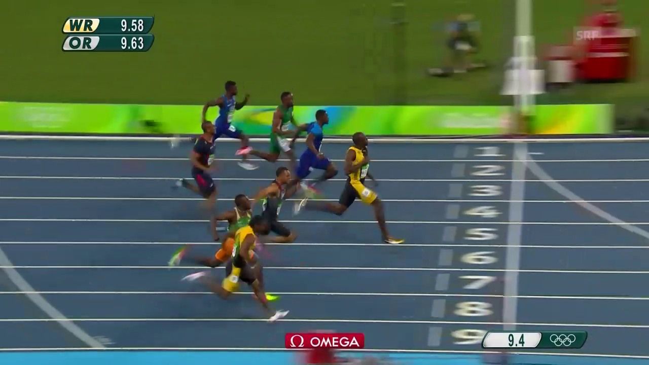 Bolts Olympia-Gold über 100 m 2016 in Rio