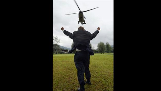 Die Geschichte hinter dem Helikopter-Bild..