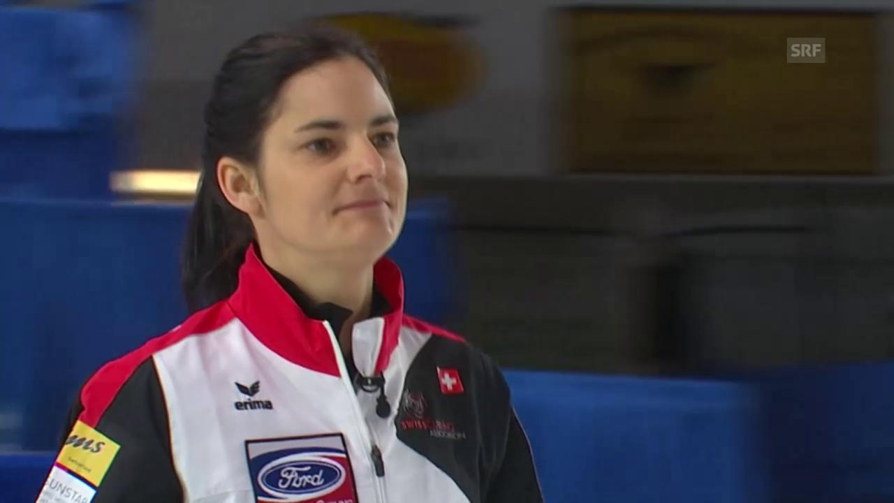 Die Schweizer Curlerinnen unterliegen Kanada (Quelle: EVS)