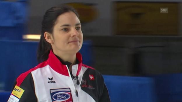 Video «Die Schweizer Curlerinnen unterliegen Kanada (Quelle: EVS)» abspielen