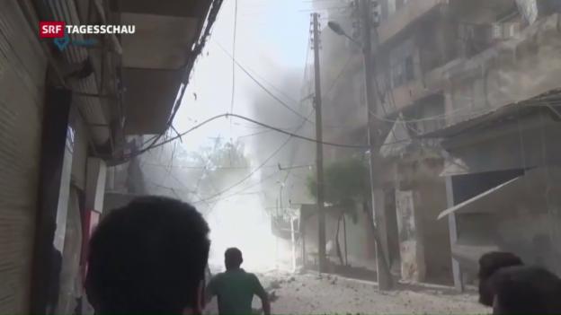 Video «Syrien: USA droht mit Ende diplomatischer Bemühungen» abspielen