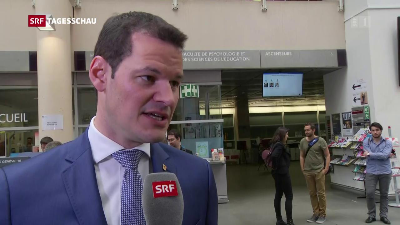 Staatsrat Pierre Maudet zu seiner Wiederwahl im ersten Anlauf