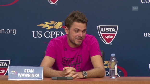 Video «Tennis: US Open, Stan Wawrinka vor dem Halbfinal» abspielen