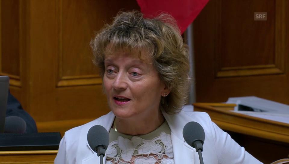 Eveline Widmer-Schlumpf: «Wir brauchen Strasse und Schiene»
