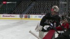 Video «Eishockey: NHL, Reto Berra in Calgary» abspielen