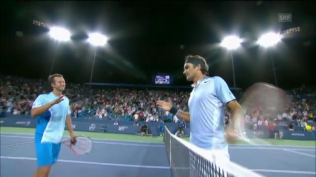 Video «Federers Auftakt in Cincinnati geglückt» abspielen