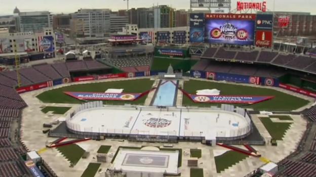 Video «Eishockey: NHL, Winter Classic, Aufbau des Stadions» abspielen
