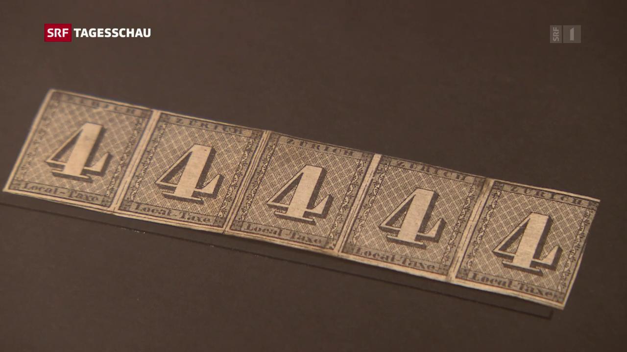 Ausstellung über Briefmarken in Bern