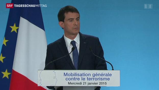 Video «Frankreichs Entschlossenheit im Kampf gegen den Terror» abspielen