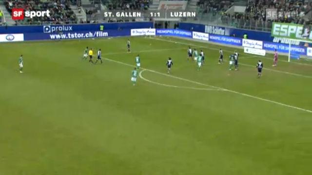 Fussball: St. Gallen - Luzern