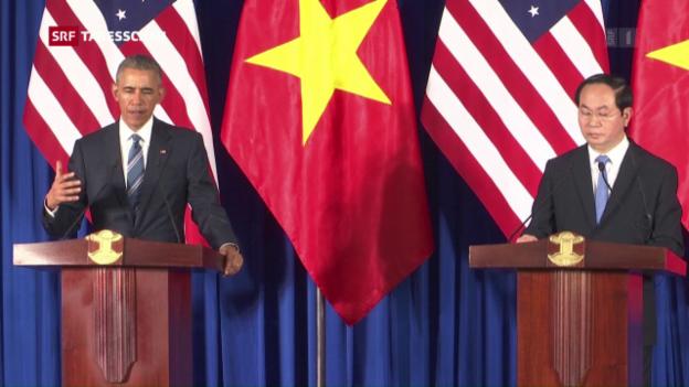 Video «Obama in Vietnam» abspielen